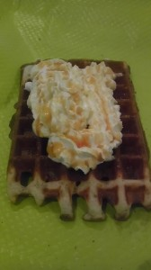 Gaufre chantilly caramel